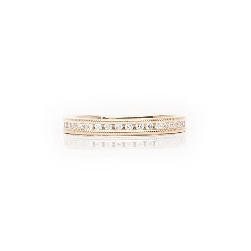 Channel Set Millgrain Diamond Band