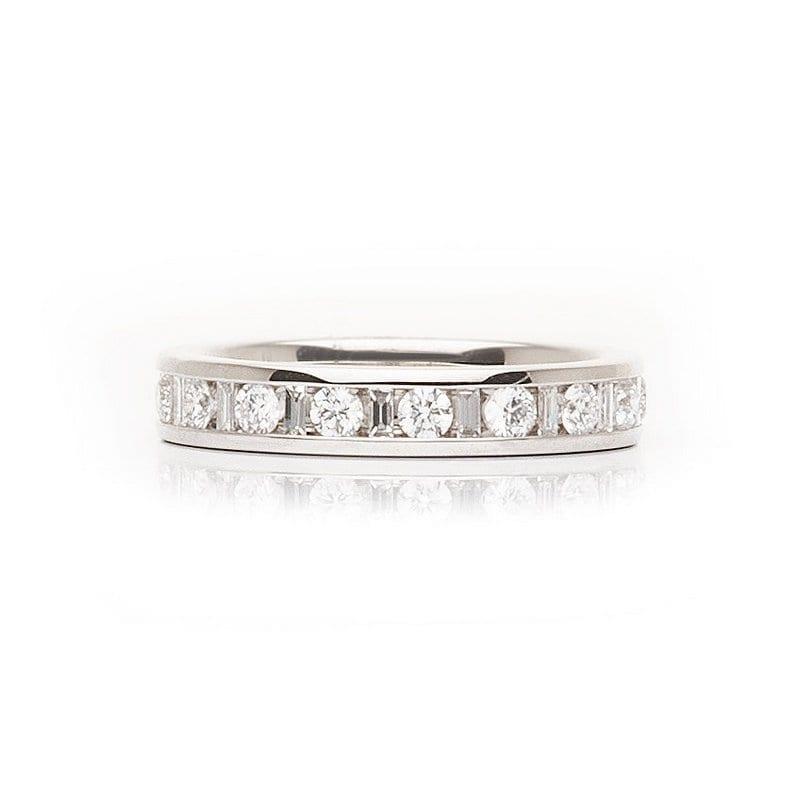 Channel Set Baguette and Round Diamonds