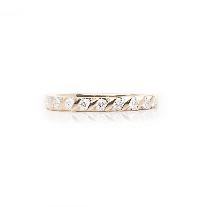 Diagonal Bar Set Eternity Ring
