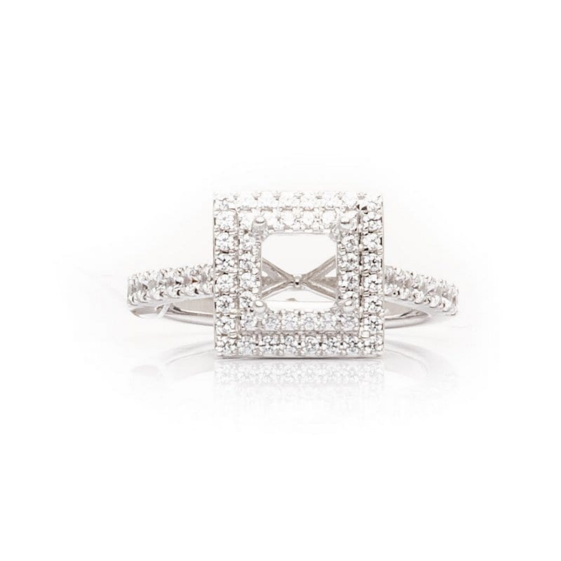 Princess Cut Double Halo